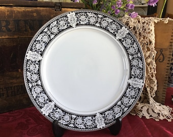 Japanese Delux Fine China 12.25 inch Chop Plate / Serving Platter / Elena Pattern