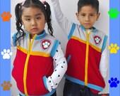 Paw Patrol Ryder Vest Soft Fleece Embroidery Patch Boys Girls Unisex Gift Birthday