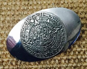 Taxaco Mayan Calendar Belt Buckle