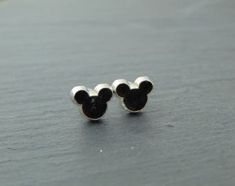 Disney Inspired Mickey Mouse Silhouette Stud Earrings