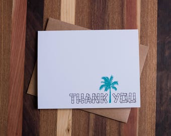 Palm Tree Thank You Card Set