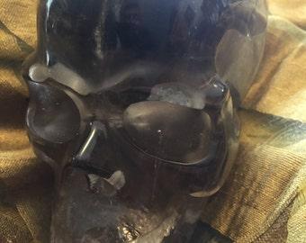 """3.8"""" Smoky Quartz Skull"""