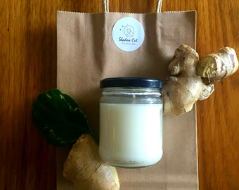 Ginger and Green Tea Natural Soy Wax Candle