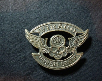 Yamaha Virago Owners Group Brass Badge Handmade