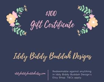 100 NZ Dollar Gift Certificate