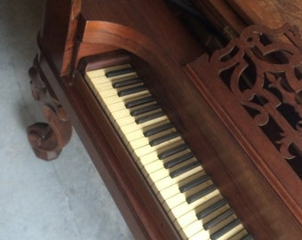 CLEARANCE: Vintage 1890s Square Grand Piano, The Valley Gem, Ripley O