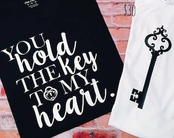 You Hold The Key To My Heart Mommy And Me Shirts