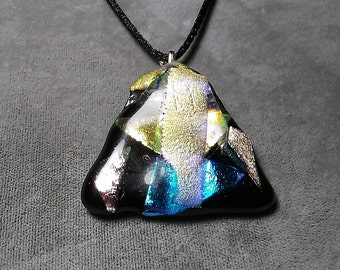 Fused Dichroic Glass Pendant