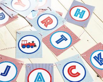 Personalised birthday bunting - train birthday/party decorations/train party/train birthday party/train party decor/boys party decor/thomas