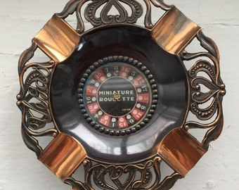 Miniature Working Roulette Wheel Ashtray