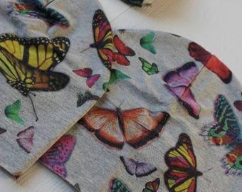 Soft Cap fancy colorful butterflies; primaverire light Jersey