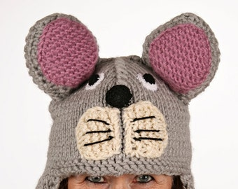 Mützentier - UNIQUE - funny hat in the form of a mouse