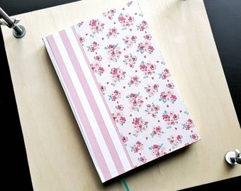 Blank journal; roses and stripes
