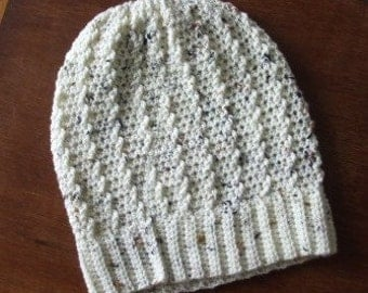 Slouchy beanie, Aran crochet, handmade in the UK, cosy for winter, perfect gift, present, Christmas