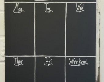 Shabby Chic Weekly Planner A3 Chalkboard Ornate Design Memo Board, Blackboard