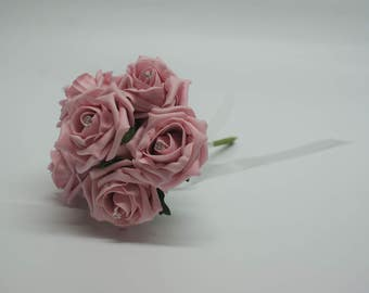 Wedding Posy - Perfect for Bridesmaids ( Vintage Pink )