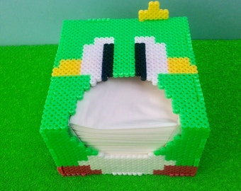 Original Bubble Bobble green tissue box perler beads pixel art videogame