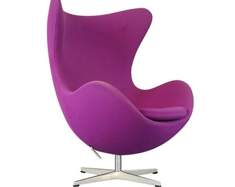 NOW SOLD - Danish Purple Wool Egg Chair by Arne Jacobsen for Fritz Hansen - SOLD
