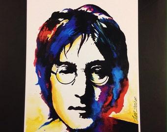 John Lennon - Size A3 - 300 gsm - Art Print