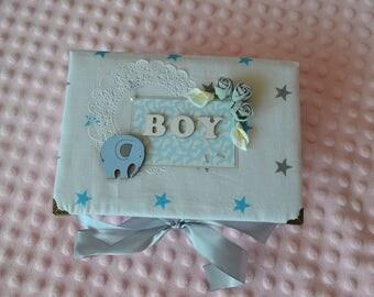 Baby box for boy, Baby Keepsake Box,Memory box, Christening gift