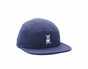 French Bulldog Children Navy Five-Panel Hat