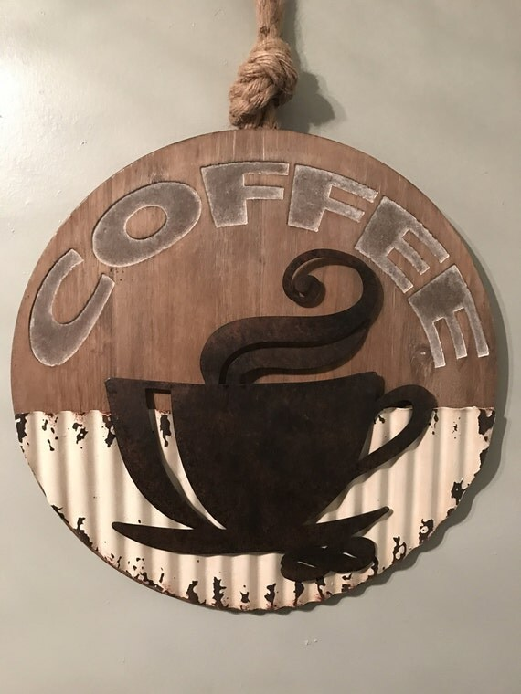 Rustic Coffee Cup Coffee Decor Rustic Kitchen Decor Coffee