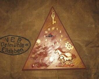 Steampunk wall clock (triangle)