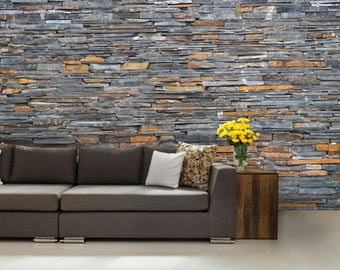 stone wall mural, natural stone wall mural, wallpaper stone, modern stone decal, old stone, abstract wall mural, stone texture