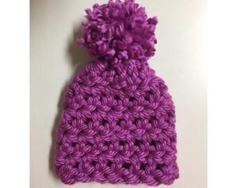 Child's Size Purple Beanie