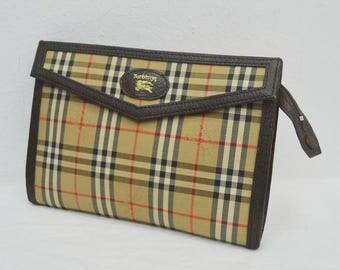 BURBERRYS Vintage BURBERRYS Classic Nova Check Toiletries/Makeup/Cosmetics/Clutch Bag