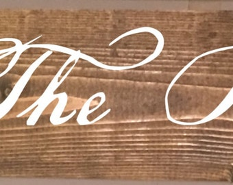 We The People Wood Sign