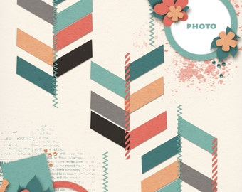 57 Chevies Digital Scrapbooking Templates #1