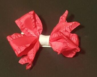 Pink Ruffle Pinwheel