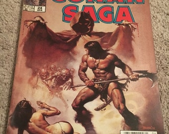 ON SALE Conan Saga #24 VF Barbarian Cimmeria Stygia Warriors