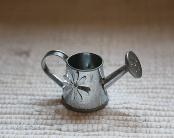 Small watering can. Accessory for fairy house, for dolls, for floral design