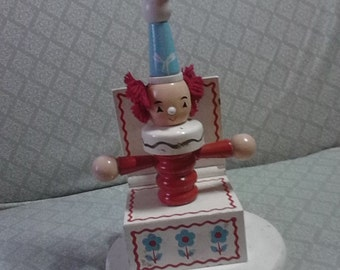 Vintage Jack N Box Clown Lamp