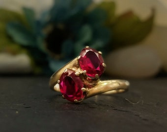 Vintage Ruby Infinity Ring