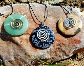 Crystal/Stone necklaces