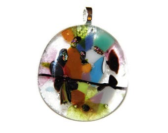 Kiln fused Glass Pendant