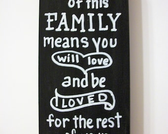 BEING a PART of this FAMILY sign,wood sign,family sign