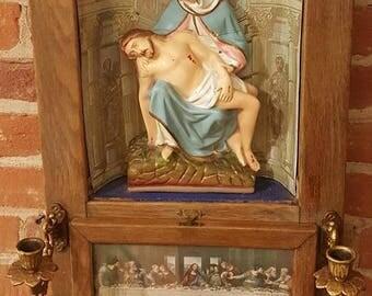 Vintage Pieta Last Rights Altar