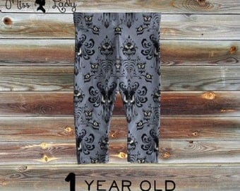 Baby haunted mansion wallpaper leggings 6month to 3 year