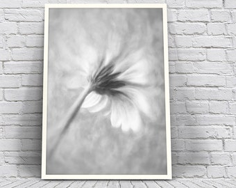 Black And White Wall Art Printable, Printable Mother's Day Print, Flower Wall Art Downloadable, Floral Art Print To Download, Abstract Art