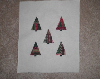 Embroidery picture: Christmas/pine trees