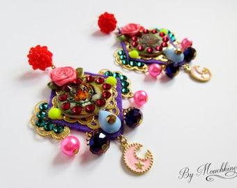Tiger earrings by Mouchkine / Bohochic trendy gyspy jewel