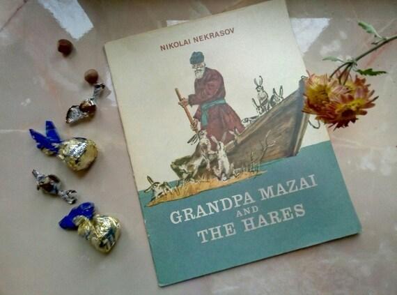 "Soviet Vintage Book ""Grandpa Mazai and the hares'' N. Nekrasov in English"