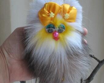 Pom pom bag charm Soft toy bag charm Fur Key Chain Bag charm Bag accessories Boho accessories Handbag charm Pom pom purse charm Gift For Her