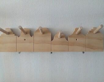 coat rack, dutch houses, handmade
