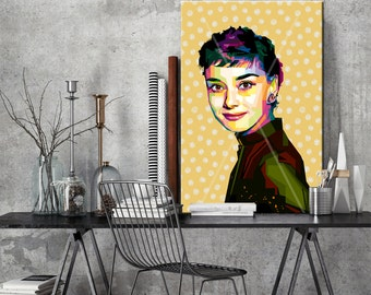 audrey hepburn etsy. Black Bedroom Furniture Sets. Home Design Ideas