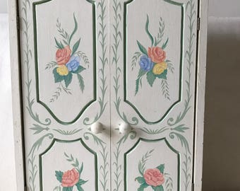 handpainted wooden chest